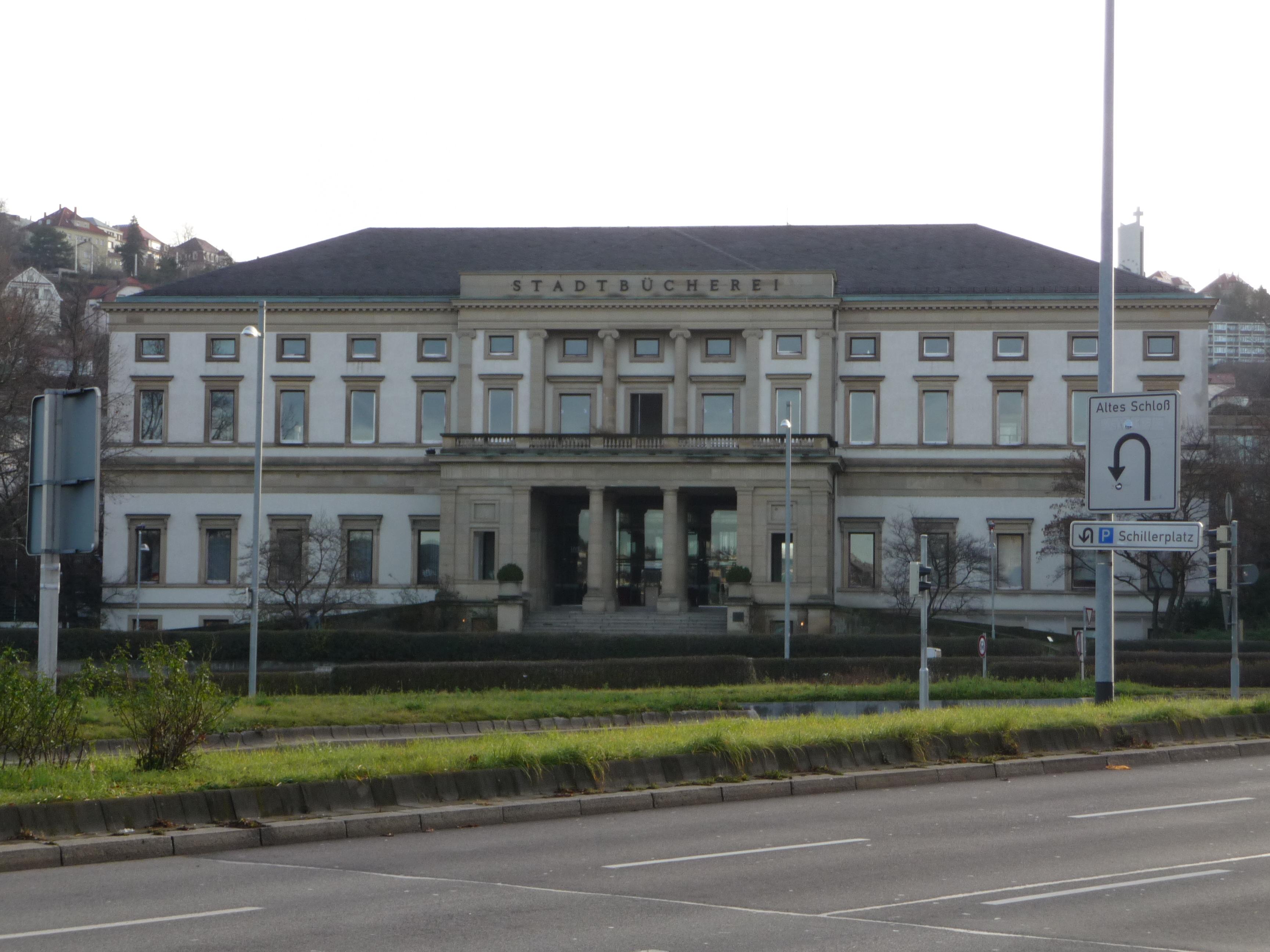 Das ehemalige Bibliotheksgebäude in stuttgart