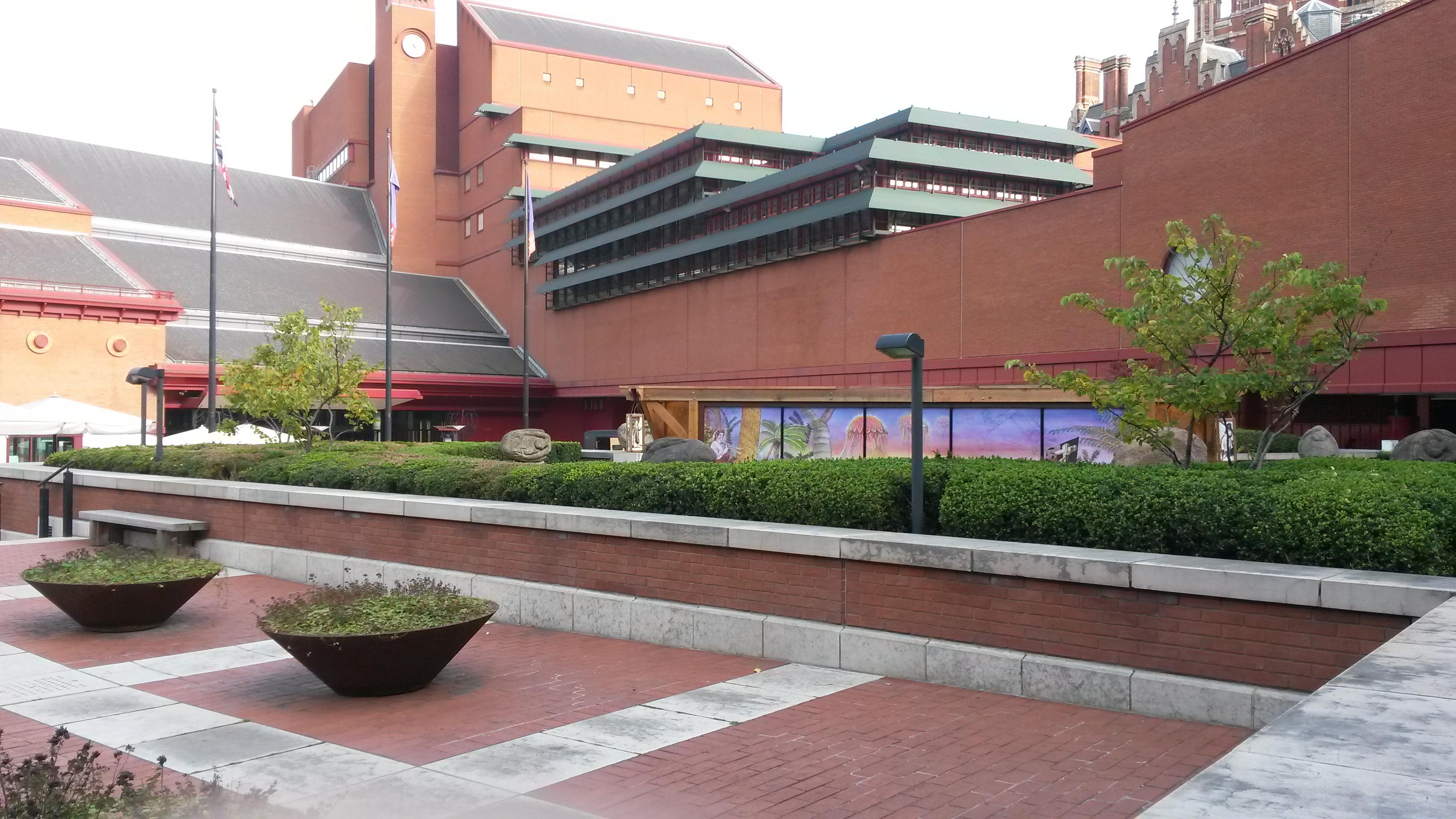 Hauptgebäude der British Library in St. Pancras