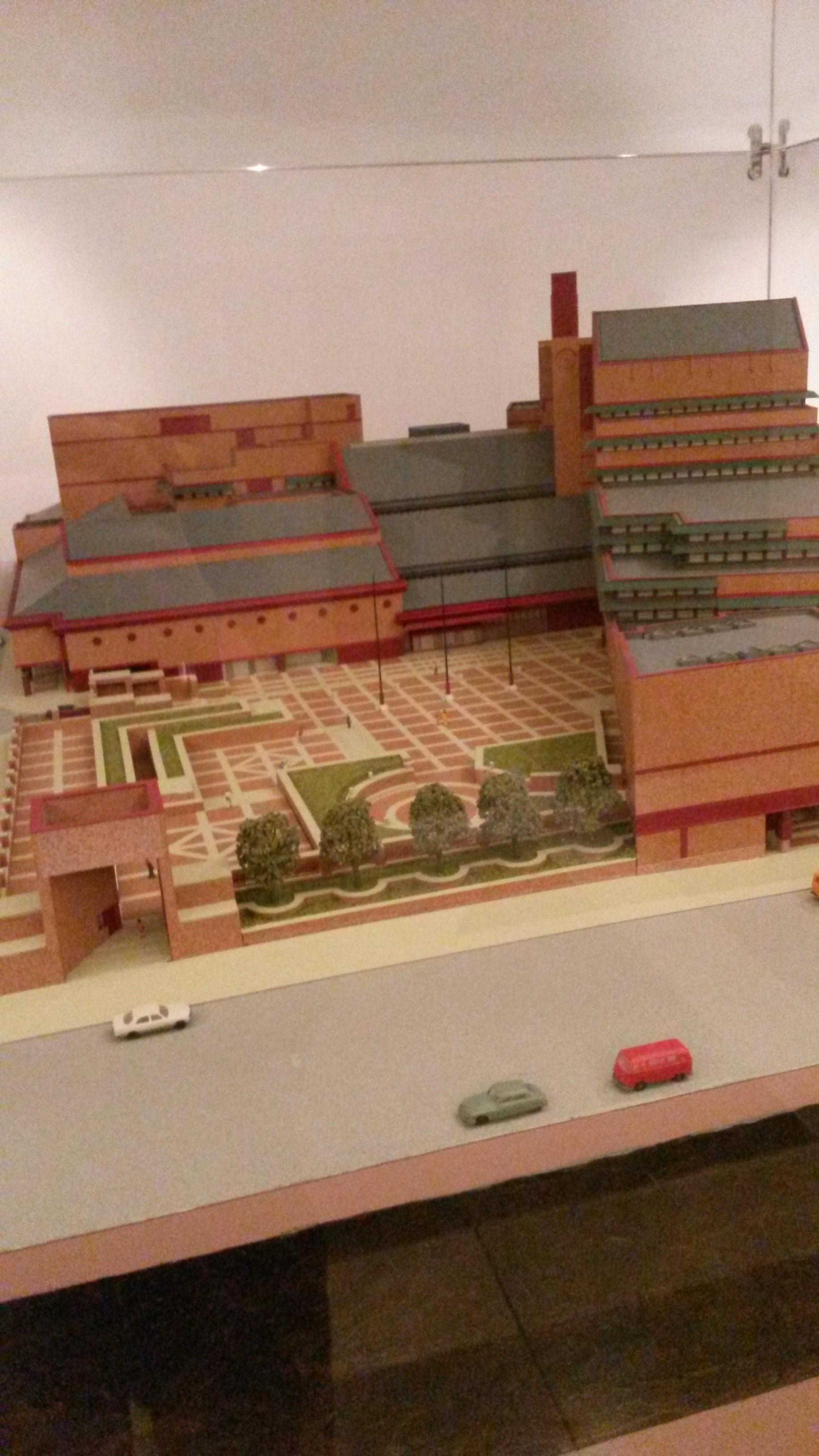 Ein Miniaturmodell der British Library