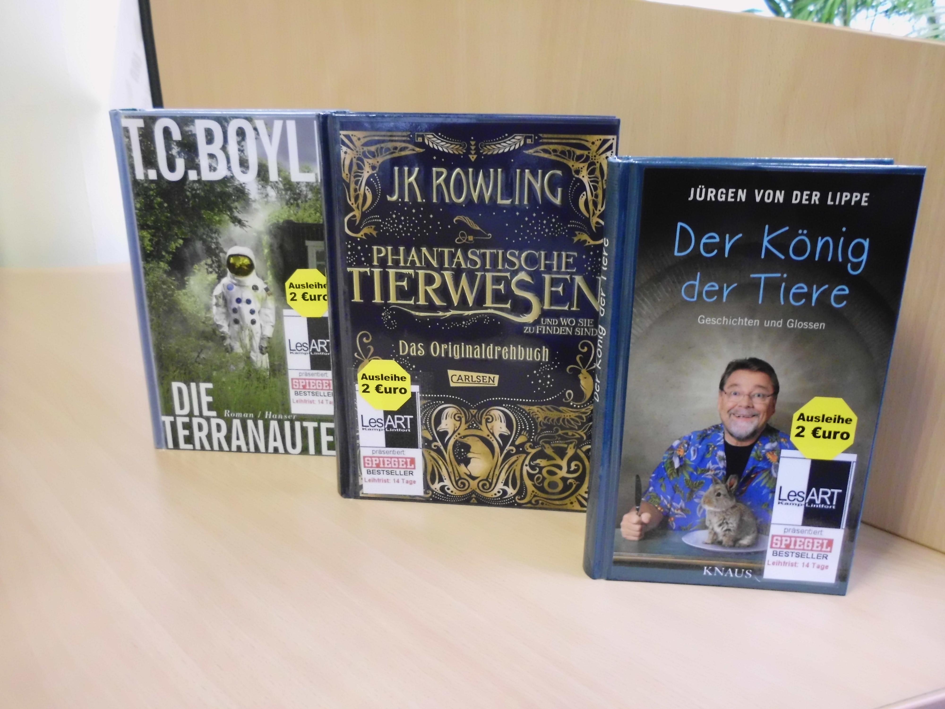 Bestseller Boyle, Rowling, von der Lippe