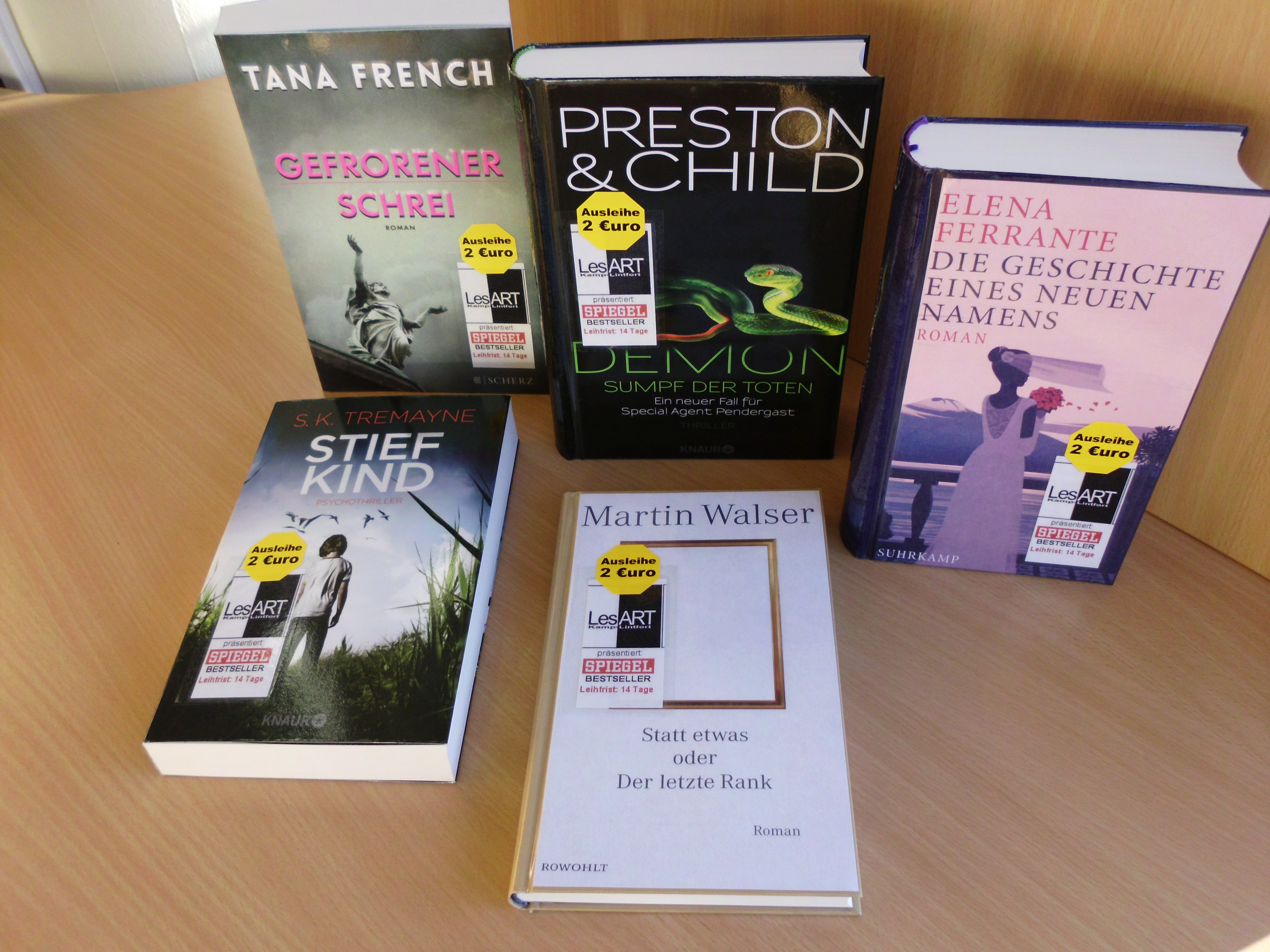 Bestseller Tremayne, Ferrante, Walser, French, Preston & Child